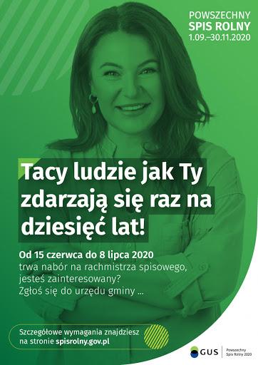 Nabór kandydatów na rachmistrzów spisu rolnego 2020r.