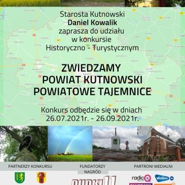 """Konkurs """"Zwiedzamy Powiat Kutnowski Powiatowe Tajemnice"""""""
